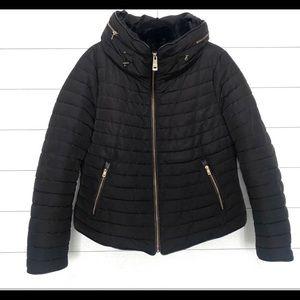 Zara anorak black quilted puffer cost